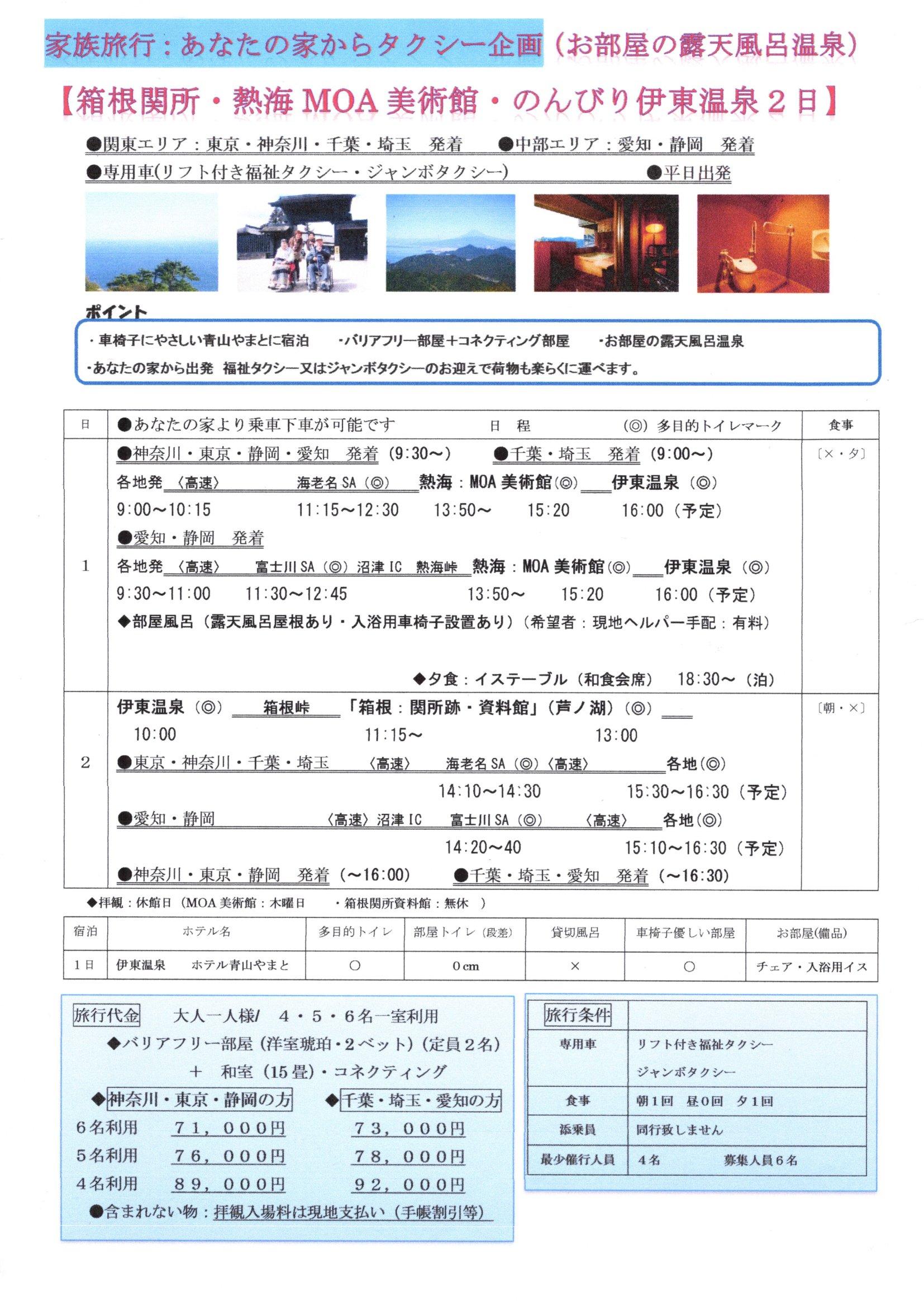 箱根関所・MOA美術館・のんびり伊東温泉 2日